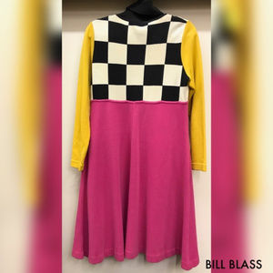 Bill Blass Dresses - SOLD! BILL BLASS Pop Art Turtle Neck 80's Dress